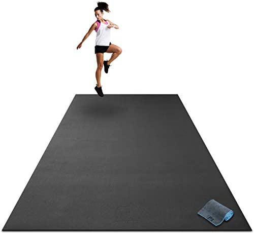 Premium Extra Large Exercise Mat 9 x 6 x 1 4 Ultra Durable Non Slip Workout Mats for Home Gym product image