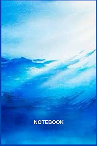 Blue Ocean Watercolor Notebook: Funny Cute Gift manganese blue watercolor paint Journal blue ocean strategy, expanded edition 120 pages and (6 x 9) watercolor with me in the ocean.