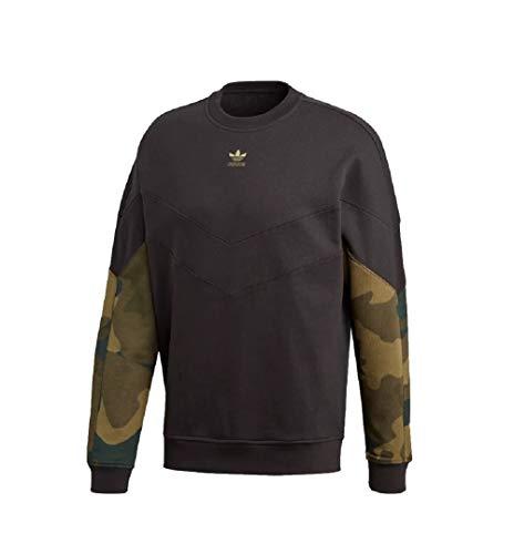Adidas Camo Sweater Sweatshirt Pullover (XL, Black/camo)