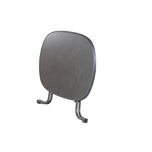 Sieger 252/G Boulevard-Klapptisch mit mecalit-Pro-Platte 140 x 90 cm, Stahlrohrgestell eisengrau, Tischplatte Schieferdekor anthrazit - 9