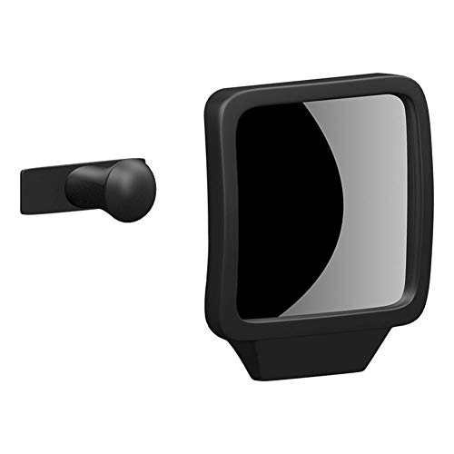 RUIXIANG blinde zone omkeerspiegel vierkant 360 ° roterende anti-botsing spiegel twee rijen achteruitkijkspiegel groot veld make-up spiegel