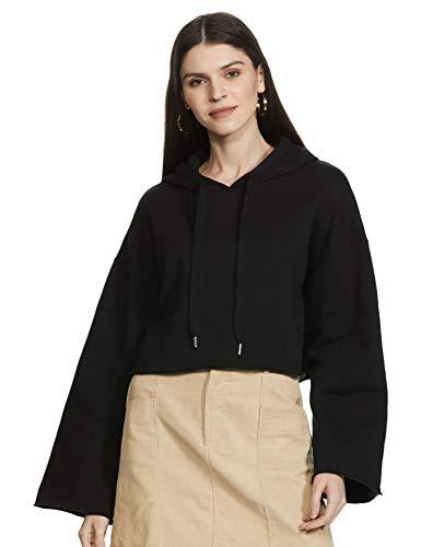 Forever 21 Women's Cotton Sweatshirt (190595034_Black_Large)