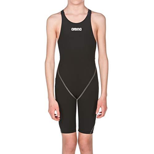 arena Mädchen Badeanzug Wettkampfanzug Powerskin ST 2.0 (Perfekte Kompression, Minimierter Wasserwiderstand), Black (50), 128