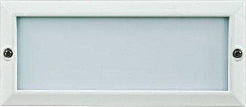Dabmar LV602-W Open Face Step Light, 2-20W 12V Jc, White Finish