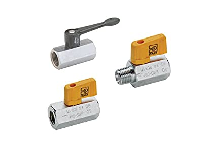 "Parker Hannifin Series Brass Ball Valve, Compact Handle, 3/8"" Female Thread x 3/8"" Female Thread"