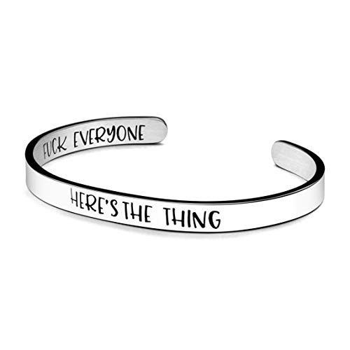 Joycuff Here's The Thing Fuck Everyone Bracelet My Favorite Murder Gift True Crime Lover Jewelry
