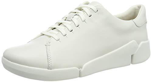 Clarks Tri Abby, Zapatillas Mujer, Blanco (White White), 39 EU