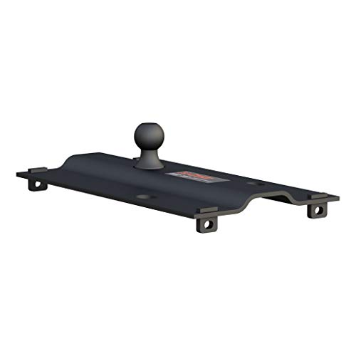 CURT 16055 Bent Plate 5th Wheel to Gooseneck Adapter Hitch, Fits Industry-Standard Rails, 25,000 lbs., 2-5/16-Inch Ball