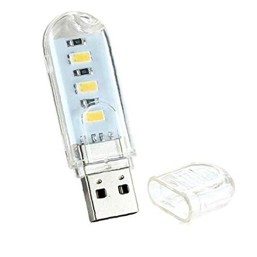 Abs Mini-usb-bewegliche Nacht 1,5w Led U-disk-lampe Doppelseiten-leseaußenlichtlampen Für Laptop Desktop-pc-wiedergabe-energien-bank