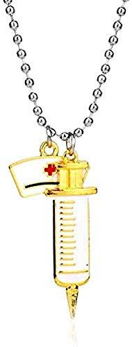 Collar con colgante de sombrero de enfermera, collar con dije de médico de aleación de Metal para hombres y mujeres, regalo de joyería para estudiantes de medicina