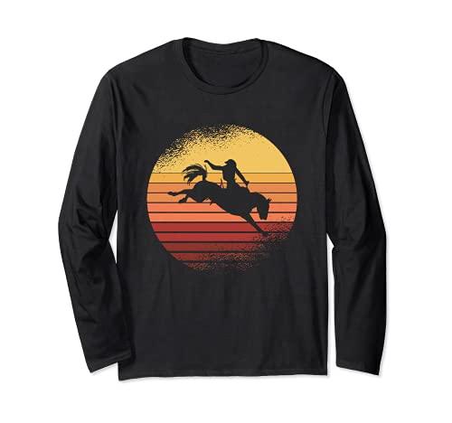 Vintage Western I Rodeo I Vaquero I Caballos Manga Larga