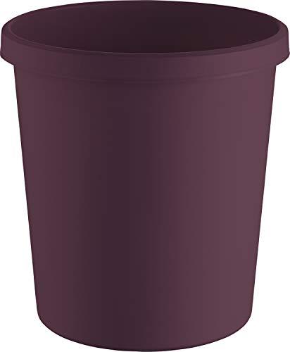 """Helit H6405825 - Papierkorb """"the green german"""", 18 Liter, aus Recycling-Kunststoff Blauer Engel zertifiziert, rot, 1 Stück"""