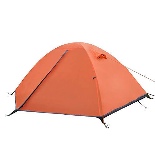 AOGUHN-tent - Backpacking-tent, 2-persoons aluminium paal Lichtgewicht kampeertent, dubbellaagse draagbare handtas om te wandelen, reizen
