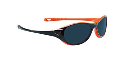 Cébé Gecko, Gafas de sol para Niños, Shiny Black Orange 1500 Grey BL