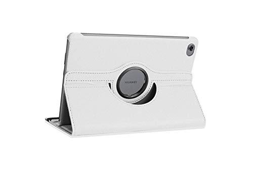 pour Huawei MediaPad M5 Lite 10 BAH2-W19 / W09 DL-AL09 Tablet Cover Cover Cuir PU pour Huawei M5 Lite 10,1 360 Coque rotative-M5 Lite 10,1 Blanc
