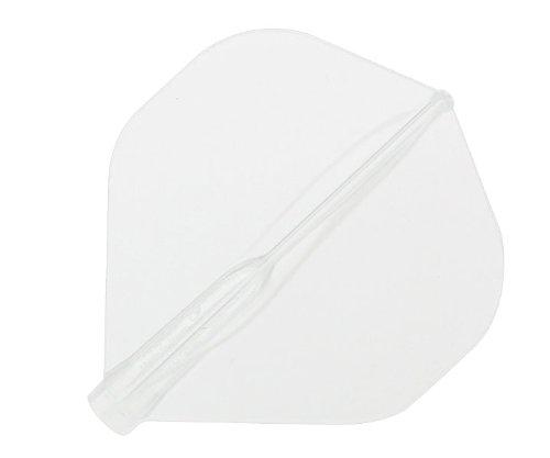 NineDartOut.us Cosmo Darts Fit Flight (Air) 3pezzi standard Dart Flight, clear