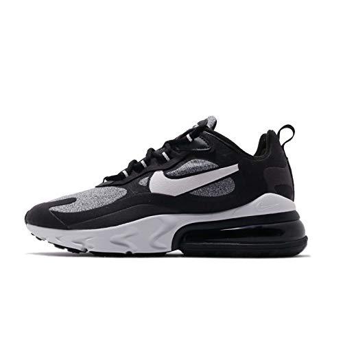 Nike Women's Air Max 270 React Optical Black/Vast Grey-Off Noir-Black AT6174-001 (Size: 8)