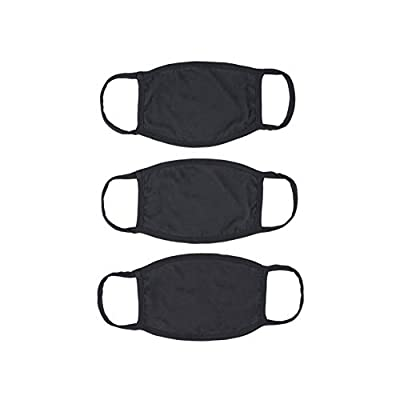 New Republic 2 Ply Cotton 3 Pack Face Masks - Made in LA (3, Black) from New Republic