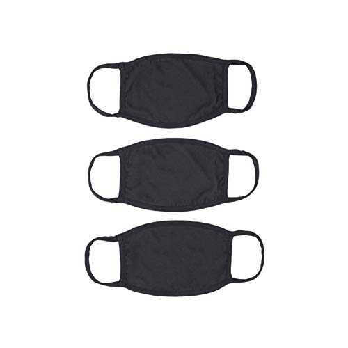 New Republic 2 Ply Cotton 3 Pack Face Masks - Made in LA (3, Black)