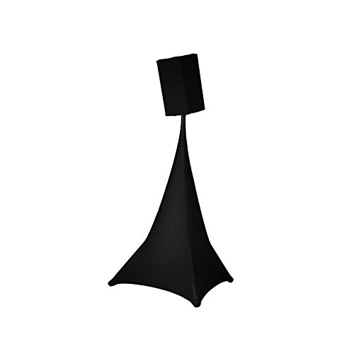 Expand Stativsegel, Stativcover Schwarz - Stativ Segel, Cover für Lautsprecherstative - Dreiseitig - B1 - Stretch
