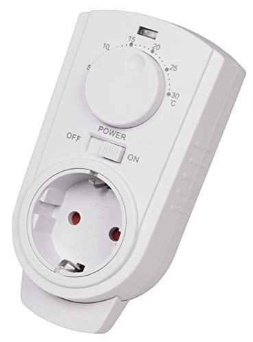 MC POWER - Steckdosen-Thermostate Klimaregelung | TCU-330 | 5-30°C, max. 3.500W, 230V/16A | einfache Steuerung von Klimageräten und Heizungen ohne zusätzliches Kabelverlegen (interne Messung)