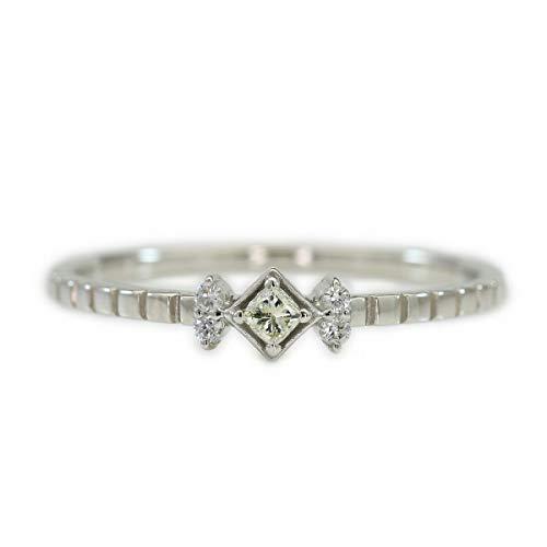 [ココカル]cococaru シルバー Silver925 ダイヤモンド リング 0.05ct スクエアカット 指輪 17号 天然 ダイヤモンド 日本製