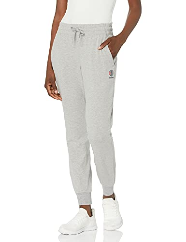 Reebok Damen-Jogginghose, Damen, Hosen, Classics Jogger Pants, Medium Grau meliert, Medium