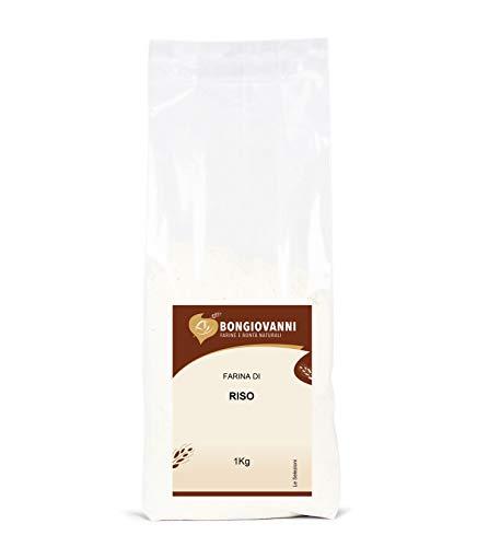 BONGIOVANNI FARINE e BONTA' NATURALI Farina di Riso per Prodotti da Forno Dolci e Salati, Senza Glutine - Formato da 1 kg