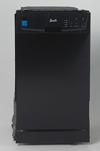 "Avanti DW18D1BE Built In Dishwasher, 18"", Black"