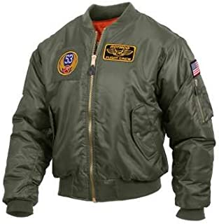 Best mens green bomber jacket with patches Reviews