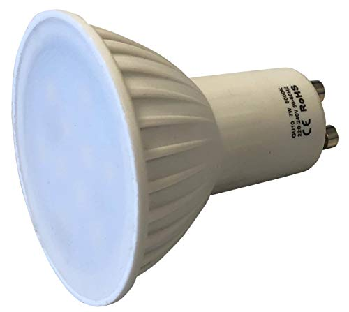 Homelux 710007 - Lampadina dicroica LED, 7 W/Gu10, 525 lm, 220 V, luce bianca
