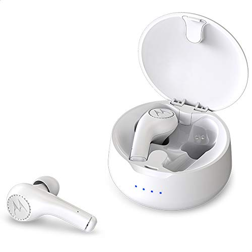 Motorola VerveBuds 500 - Bluetooth Komplett kabellose In-Ear-Kopfhörer und Headset - 3+6 Std. - Alexa, Siri, Google Assitant - Weiß