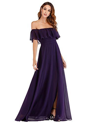 Lista de los 10 más vendidos para vestidos largos morados elegantes