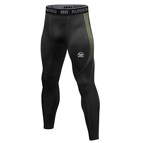 MEETWEE Leggings Uomo, Compressione Calzamaglia Baselayer Pantaloni Sportivo Tights for Gym Jogging Running