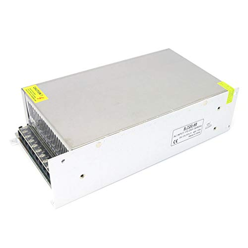 Libertroy Fuente de alimentación LED de 220 V CA a CC con Carcasa de Metal Fuente de alimentación conmutada CC 48 V 15 A 720 W Práctico y útil - Blanco