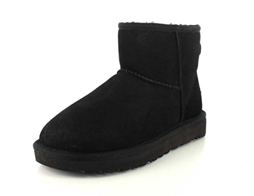UGG Female Classic Mini II Classic Boot, Black, 6 (UK)