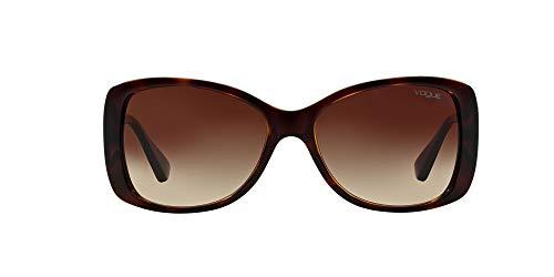 Vogue Eyewear Damen VO2843S Sonnenbrille, Schwarz (Dark Havana W65613), One size (Herstellergröße: 56)