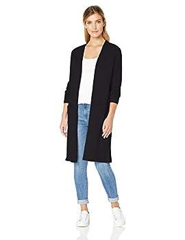Amazon Essentials Women s Lightweight Long-Sleeve Longer Length Cardigan Sweater Black XX-Large