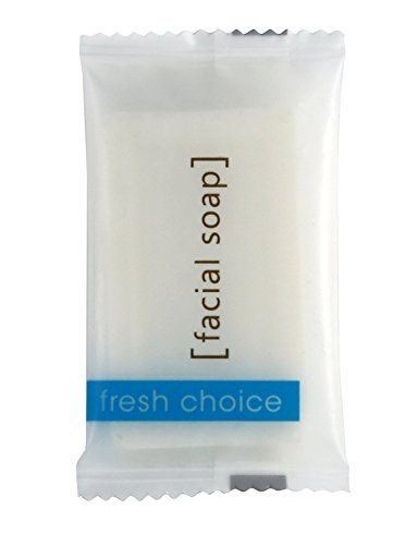 Soap Hand and Facial-Travel Size Moisturizing Individually Wrapped Toiletries for Hotels, Rentals, Spa, and Guest Room - Value Bulk Pack - Mild and Fresh Scent - 100 White Bars Per Case #3/4 FRESH CHOICE