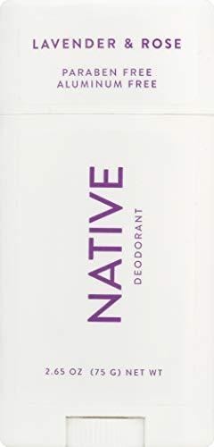 Native Deodorant - Natural Deodorant - Vegan, Gluten Free, Cruelty Free - Free of Aluminum, Parabens & Sulfates - Born in the USA - Lavender & Rose…