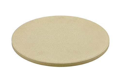 RÖSLE VARIO Pizzastein, Hochwertiger Pizzastein aus Schamott zur Zubereitung von Pizza, Flammkuchen, Brot usw. auf dem Grill oder im Backofen, 30 cm