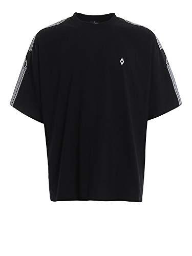 MARCELO BURLON County Tape T-Shirt, XS Black