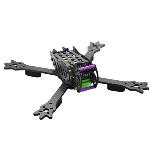freneci Kit Telaio Quad FPV in Fibra di Carbonio, Portapacchi Quadruplo con Interasse 235 Mm per Parte Fai-da-Te del Drone