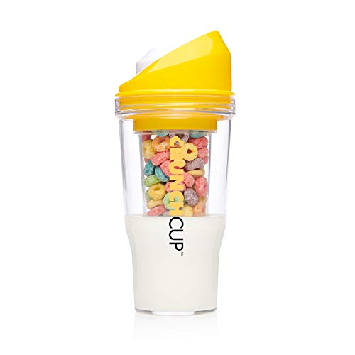 The CrunchCup - A Portable Cereal Cup - No Spoon. No Bowl. It's Cereal On The Go.