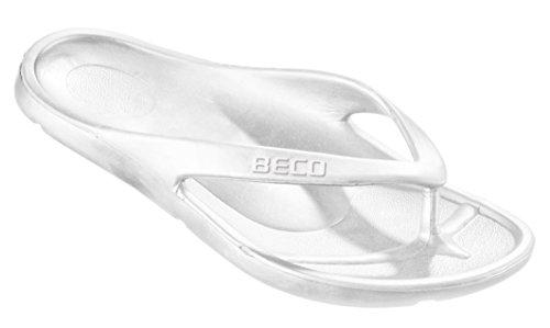 Beco Damen Zehenslipper, Weiß, 40