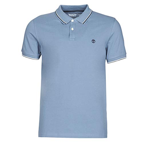 Timberland SS Millers River Pique Tipped Polo (Slim) T-Shirts & Poloshirts Hommes Blau - XXL - Polohemden
