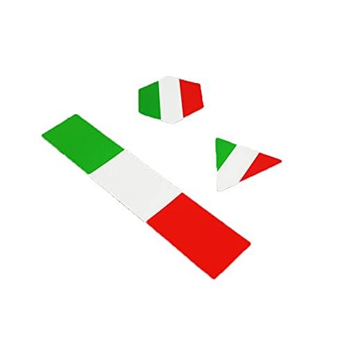 SGYANZLG 3 unids/Lote Italia Casco de Advertencia de Seguridad Reflectante de Italia Casco de Motocicleta Scooter eléctrico Marcos de Advertencia Combo Pegatinas (Color : 3pcs)