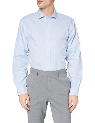 Brooks Brothers Camicia Regent Cotone Manica Lunga Business, Turchese...