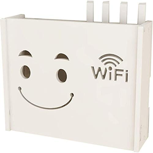 zhouxi Decorativo De Router Inalámbrico Rack Sala De Pared Wi-Fi Caja De Almacenamiento De Decoración De La Pared Inferior De TV Plug-in Blindaje Caja Set-Top BoxB