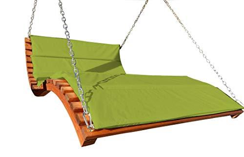 ASS Design Hollywoodliege \'Aruba-Lounger-GRÜN\' aus Holz Lärche (ohne Gestell) von